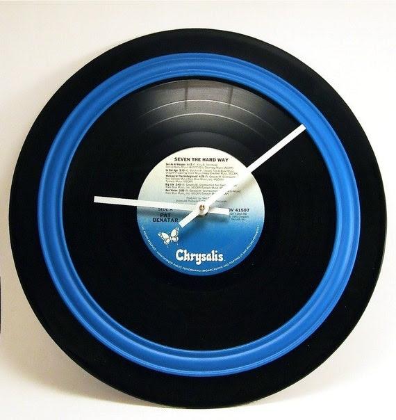 Record Album Clock - Rock