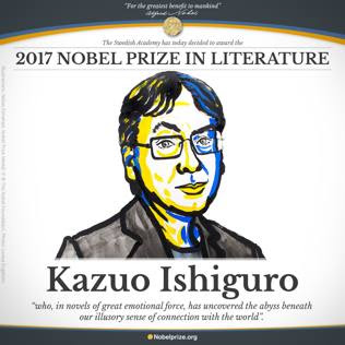 Il Nobel Letteratura 2017 è Kazuo IshiguroL'Annuncio all'Accademia di Svezia