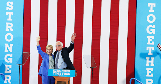 As Sanders Endorses Clinton, Supporters Still Claim A Win