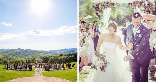 Four Designer Wedding Dresses for a Jew-ish, Chinese destination wedding at Castello Di Casole in Chianti Tuscany Italy - Smashing the Glass | Jewish Wedding Blog