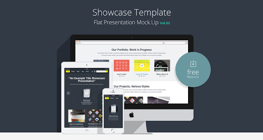 Flat Responsive Showcase Psd Vol2 | Psd Web Elements | Pixeden