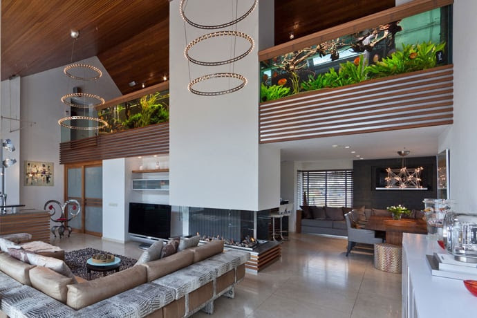 Contemporary Aquarium Villa by Centric Design Group    DesignRulz.com