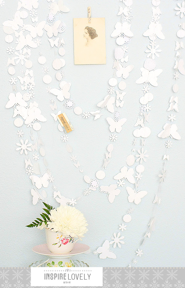 sweet white butterfly garland