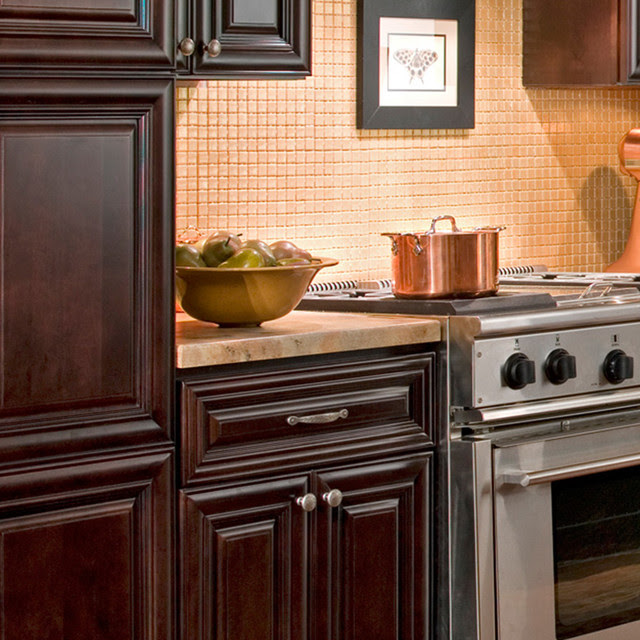 Findley & Myers Palm Beach Dark Chocolate Kitchen Cabinets ...