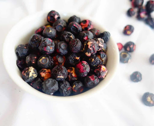 CRUNCHY, MUNCHY FREEZE-DRIED BLUEBERRIES - MegUnprocessed