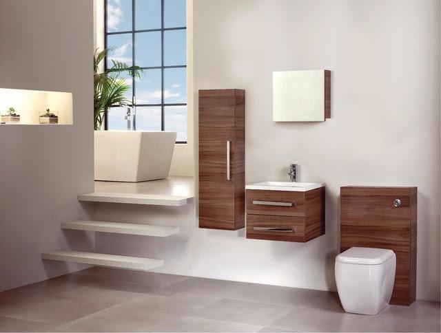 Walnut Bathroom Furniture - Modern - Bathroom Cabinets ...