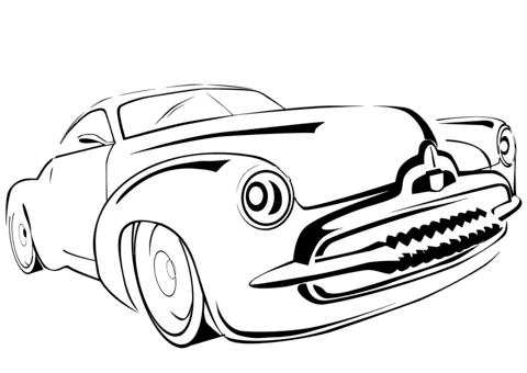 旧車 ぬりえ