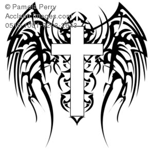 Cross With Wings Tattoo Design Clipart Panda Free Clipart Images