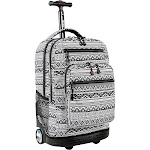 J World Sundance Laptop Rolling Backpack - Tribal - Rolling Backpacks