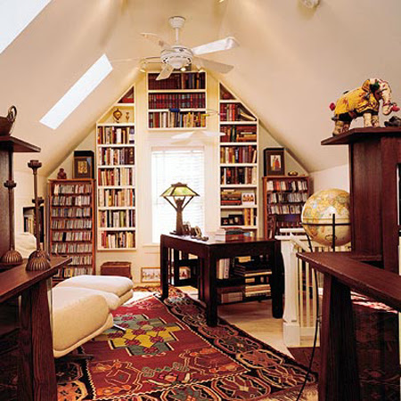 Design Ideas  Home Office on 21 Cool Attic Home Office Design Ideas    Photo 17