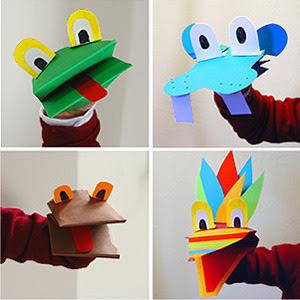 Haz tu propio zoo con estas divertidas marionetas de papel