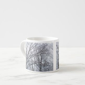 Snow-covered Oak Tree Espresso Mug