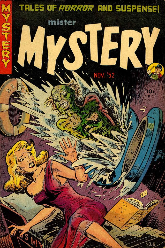 Mister Mystery #8 Tony Mortellaro Cover (Magazines, Inc. 1952)