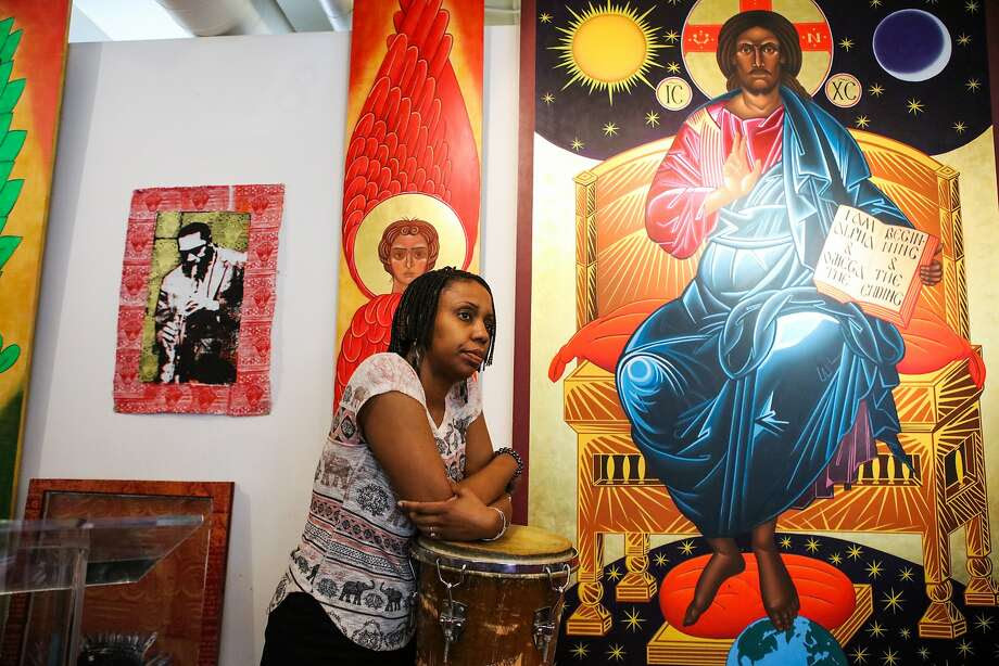 The Rev. Marlee-I Mystic is a minister at St. John Coltrane African Orthodox Church in San Francisco. Photo: Gabrielle Lurie, Special To The Chronicle