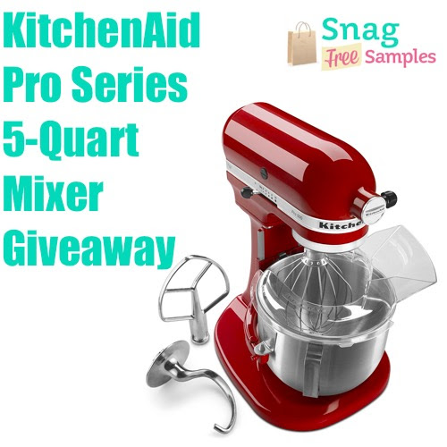 Enter to win a KitchenAid Pro Mixer from Snag Free Samples