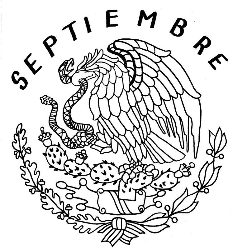 Escudo Nacional Mexicano Para Imprimir Y Colorear