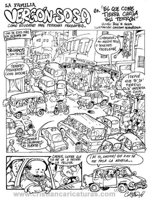Página del comic La familia vergon Sosa