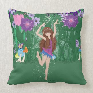 Jen the Dancing Flower Fairy Pillow