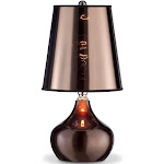 Ore International 18 in. Luster Cappuccino Touch-On Table Lamp