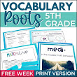 Morphology Word Study - Growing Vocabulary Roots - Freebie