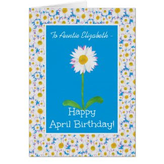 Daisy, April Birthday Card to Personalize
