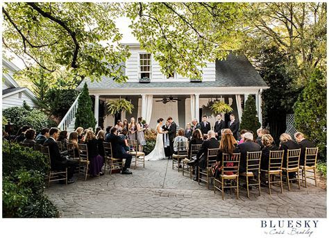 Outdoor wedding in Charlotte NC at Morehead Inn by www