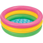 Intex 58924EP 34in x 10in Sunset Glow Soft Inflatable Baby Swimming Pool by VM Express