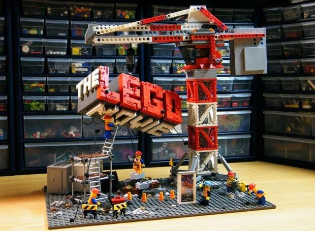 lego movie poster lego diorama by darthnick 620x455
