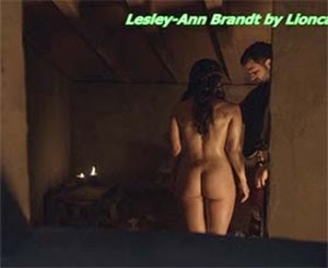 Lesley Ann Brandt naked in season 1 of Spartacus