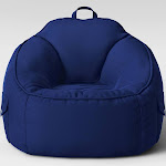 Canvas Bean Bag Chair Blue - Pillowfort