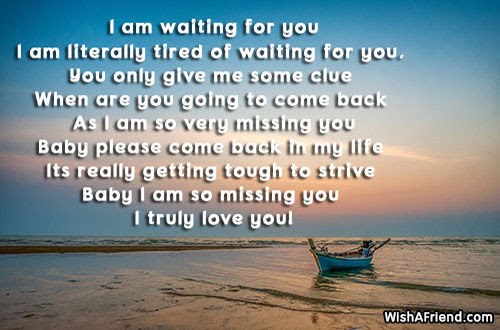 I Am Waiting For You Missing You Poem For Boyfriend