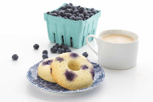 Low Carb Lemon Blueberry Donuts