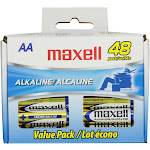 Maxell 48 AA General Purpose Alkaline Batteries
