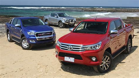 toyota hilux ford ranger  mazda bt   review