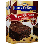 Ghirardelli Brownie Mix, Triple Chocolate - 7.5 lb box