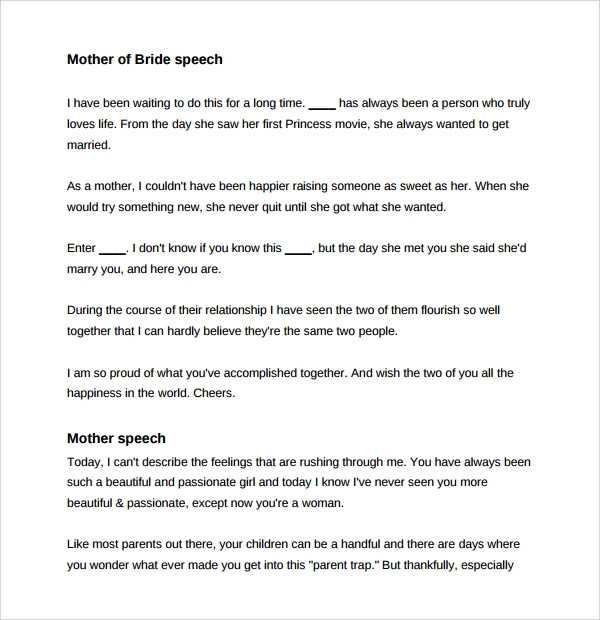 Perfect wedding speech groom