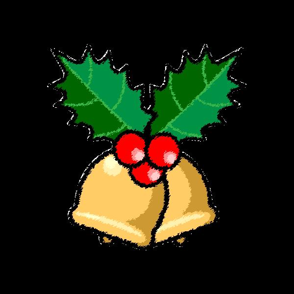 手書き風でかわいいクリスマスベル6の無料イラスト商用フリー オイデ43