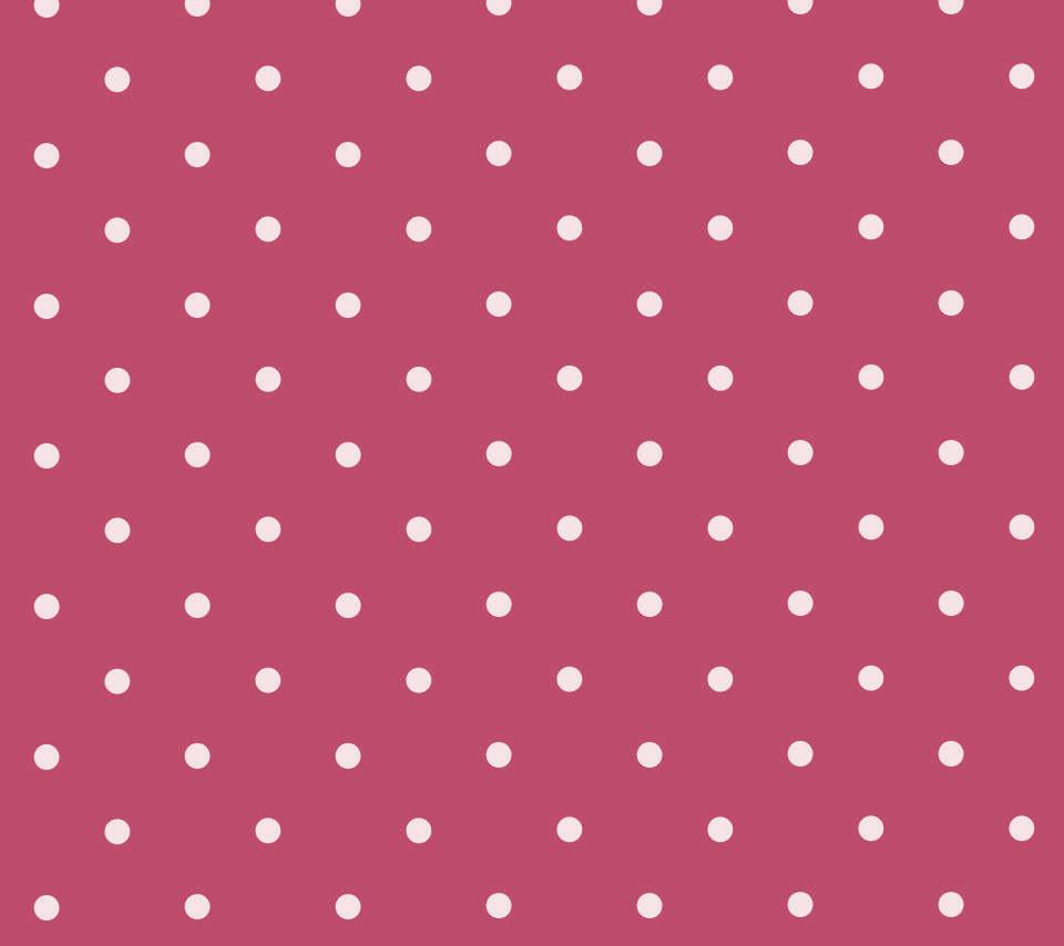 かわいいピンクのドット柄のスマホ用壁紙 Android用 960 854