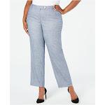 CALVIN KLEIN Womens Blue Wear To Work Pants