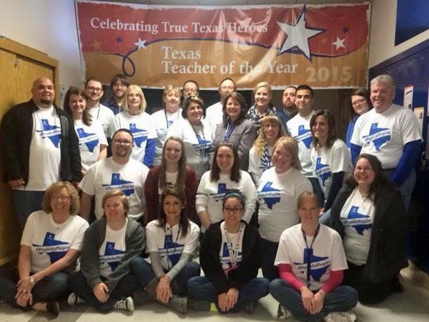 Shanna Peeples havia sido premiada como a melhor professora do Texas (Foto: Reprodução/Twitter/Shanna Peeples)