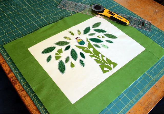 Grass Block -- quilted