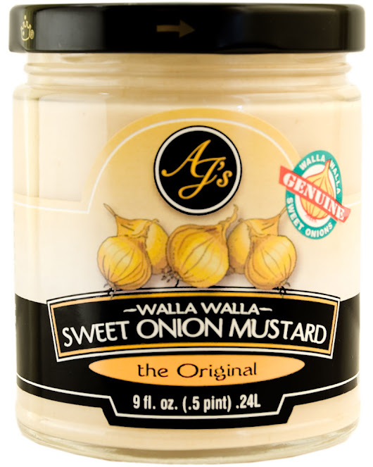 AJ's Walla Walla Sweet Onion Mustard the Original