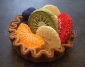 Felt Play Food Pattern - Fruit Salad and Fresh Fruit Tart PDF - DIY Felt Food - sweetemmajean