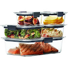Rubbermaid Brilliance 10-Piece Food Storage Container Set, Clear