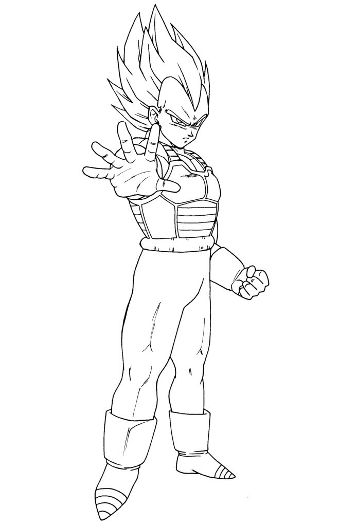 Coloriage Dbz Vegeta Az Coloriage