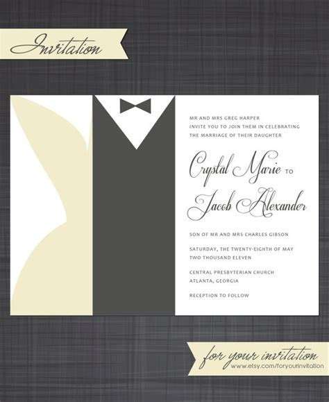 Black Tie Invitation by foryourinvitation on Etsy, $18.00