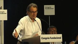 Artur Mas durant la seva intervenció al congrés fundacional