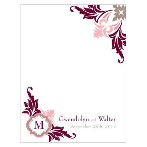Lavish Monogram Wedding Place Cards (Set of 6)