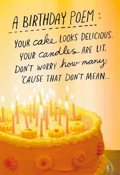 How Many Candles Poem Funny Birthday Card   Greeting Cards