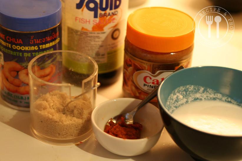 ingrediënten : Pindasaus voor saté